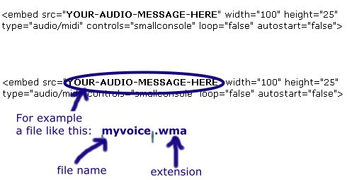 audio recording software... My code example..